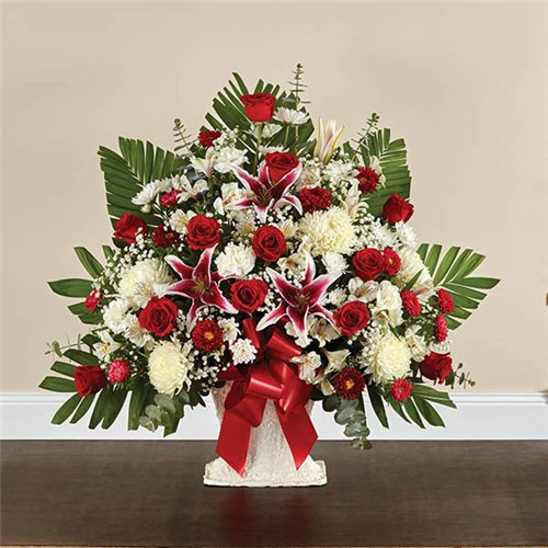 1-800-Flowers® Red Rose And Lily Floor Basket